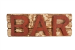 Bar Wood Sign like this rustic home decor provided by Mexican Imports