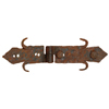 Rustic Hammered Iron Hinges, rustic home decor provided by Mexican Imports