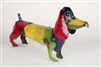 Medium wiener dog rustic home decor provided by Mexican Imports