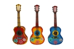 Colorful metal guitar like this rustic home decor provided by Mexican Imports
