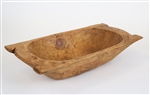 Eurostyle Rustic Wooden Deep Dough Bowl with Handles, rustic home decor provided by Mexican Imports