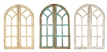 Farmhouse Gothic Revival Pair Windows and rustic home decor provided by Mexican Imports