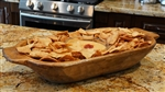 food safe Rustic Wooden Deep Dough Bowl with Handles, rustic home decor provided by Mexican Imports