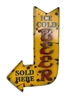 Colorful recycled metal ice cold beer Sign like this rustic home decor provided by Mexican Imports