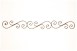 Iron S Scroll  door topper and rustic home decor provided by Mexican Imports