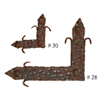 Iron Squares - Rustic Hardware, rustic home decor provided by Mexican Imports