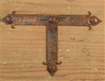 Iron T strap - Rustic Hardware, rustic home decor provided by Mexican Imports