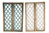Lattice Milan Wood Shutters Windows-Pair-Farmhouse and rustic home decor provided by Mexican Imports