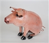 pink sitting pig rustic home decor provided by Mexican Imports