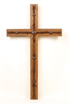 Old Door Cross Barbed Wire (Extra Large), rustic home decor provided by Mexican Imports