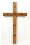 Old Door Cross Clavos (Extra Large), rustic home decor provided by Mexican Imports