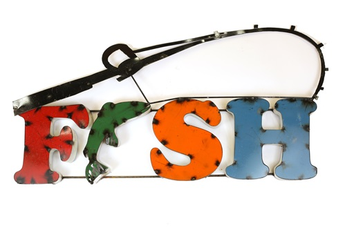 Colorful Recycled Metal Fish Sign Like This Rustic Home Decor Provided By Mexican Imports