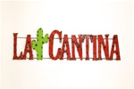 Colorful recycled metal la cantina Sign like this rustic home decor provided by Mexican Imports