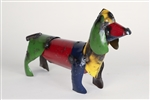 Small wiener dog rustic home decor provided by Mexican Imports