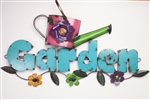 Colorful recycled metal garden Sign like this rustic home decor provided by Mexican Imports