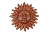 Red River Clay Sun-Hand Painted-Garden, rustic home decor provided by Mexican Imports
