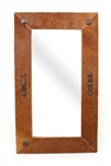 Rustic Cowhide Mirror- Rustic Mirror, rustic home decor provided by Mexican Imports