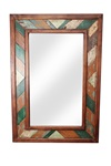 Rustic Folk Art Mirror, rustic home decor provided by Mexican Imports