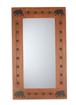 Bear mirror with Hammered Clavos - Rustic Mirror, rustic home decor provided by Mexican Imports