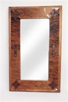 Rustic Mirror-Rustic ranch cowhide, rustic home decor provided by Mexican Imports