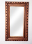Hacienda with Hammered Clavos (Natural) - Rustic Mirror, rustic home decor provided by Mexican Imports