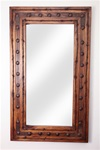 Rancho Adobe mirror with Hammered Clavos - Rustic Mirror, rustic home decor provided by Mexican Imports