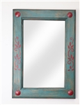 Rustic Turquoise Mirror, rustic home decor provided by Mexican Imports
