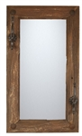 Rustic Old Door Mirror with Hooks, rustic home decor provided by Mexican Imports