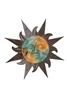 Soleil Garden Large-Clay and Tin Sun and rustic home decor provided by Mexican Imports