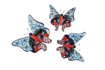 Talavera Garden Ceramic Wall Butterfly Set of 3