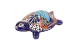Talavera-garden wall turtle-Hand-Painted-Garden, rustic home decor provided by Mexican Imports