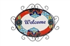 Talavera Welcome SignHand-Painted-Garden, rustic home decor provided by Mexican Imports