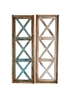 Farmhouse Architectural Window Three Cross and rustic home decor provided by Mexican Imports