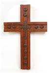 Tierra Dulce wood handmade Cross, rustic home decor provided by Mexican Imports