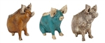 Wilber the Pig Planter-Garden-Clay, rustic home decor provided by Mexican Imports