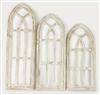 Farmhouse architectural Windows Cathedral set and rustic home decor provided by Mexican Imports
