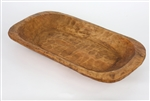 Wooden dough bowl-farmhouse, carved, rustic home decor provided by Mexican Imports